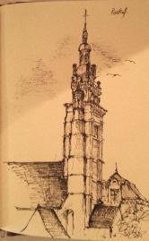 Zeichnung-Kirche-von-Roskoff
